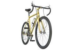 Primer de oro de la bicicleta Foto de archivo libre de regalías