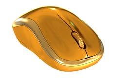 Primer de oro inalámbrico del ratón del ordenador