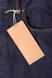 Primer de pantalones vaqueros azul marino Foto de archivo libre de regalías