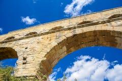 Primer de Pont du Gard imagen de archivo libre de regalías