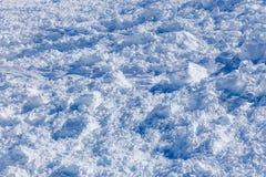 Primer de precipitación de la avalancha de la nieve Imagenes de archivo