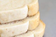 Pan blanco cortado Foto de archivo libre de regalías