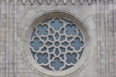 Primer de Rose Window Church Imagen de archivo