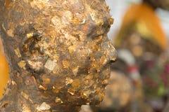 Primer de Statue Face del monje Foto de archivo