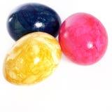 Huevos de Pascua veteados coloridos vivos Foto de archivo libre de regalías