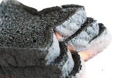 Primer de tres panes de pan quemado Fotografía de archivo libre de regalías