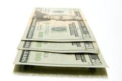 Tres veinte billetes de dólar Fotos de archivo libres de regalías