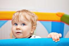 Primer de un bebé del año Foto de archivo