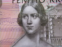 Primer de un billete de banco sueco fotos de archivo libres de regalías