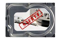 Primer de un disco duro Imagen de archivo libre de regalías