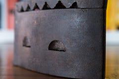 Primer de un hierro viejo Fotografía de archivo