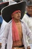 Primer de un hombre quechua indígena en Ecuador Imagen de archivo libre de regalías