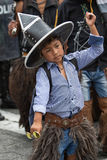 Primer de un muchacho quechua indígena en Ecuador Imágenes de archivo libres de regalías