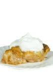 Primer de un pedazo de empanada de manzana. Imágenes de archivo libres de regalías