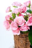 Primer de un ramo de rosas rosadas Imagen de archivo