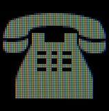 Primer de un símbolo del teléfono Foto de archivo
