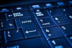 Primer de un teclado oscuro Fotos de archivo libres de regalías