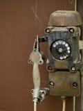 Primer de un teléfono viejo Imagen de archivo libre de regalías