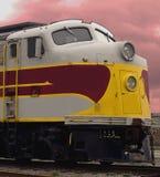 Primer de un tren viejo imagen de archivo