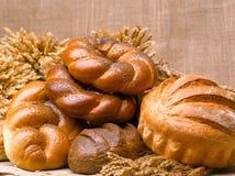 Primer de una aún-vida hermosa del pan, wi de los productos de pasteles Imagen de archivo
