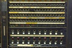 Primer de una centralita telefónica del teléfono del vintage Foto de archivo libre de regalías