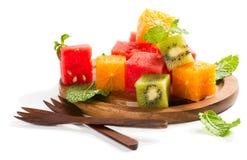 Primer de una ensalada de fruta Imagen de archivo