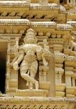 Primer de una escultura de la deidad en el templo de Varahaswamy Foto de archivo libre de regalías
