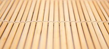 Primer de una estera de bambú Foto de archivo libre de regalías