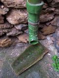 Primer de una evacuación hecha de cerámica verde Fotos de archivo