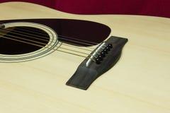 Primer de una guitarra Fotografía de archivo libre de regalías