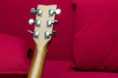 Primer de una guitarra Foto de archivo libre de regalías