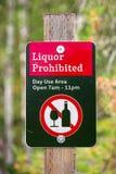 Primer de una muestra prohibida licor del uso del día fotografía de archivo