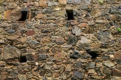 Primer de una pared de piedra en el del Sacramento, Uruguay de Colonia fotos de archivo