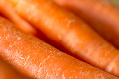 Primer de una pila de zanahorias Fotografía de archivo