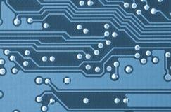 Primer de una placa de circuito impresa Imágenes de archivo libres de regalías