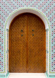 Primer de una puerta marroquí Fotografía de archivo