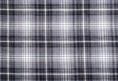 Primer de una tela escocesa controlada gris Imagen de archivo libre de regalías