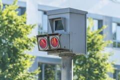 Primer de una trampa de radar en Alemania imágenes de archivo libres de regalías