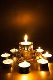 Primer de velas ardientes Foto de archivo libre de regalías