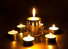 Primer de velas ardientes Imagen de archivo libre de regalías