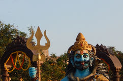 Primer del ídolo hindú de Shiva de dios en evento del ustav del deepam del karthika Imagen de archivo