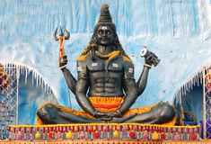 Primer del ídolo hindú de Shiva de dios en evento del ustav del deepam del karthika Imagenes de archivo