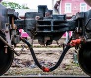 Primer del acoplador del tren Imagenes de archivo