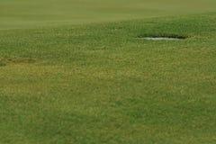 Primer del agujero del golf Fotografía de archivo