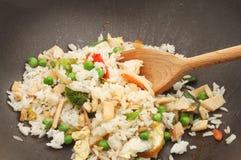 Primer del arroz frito Fotografía de archivo