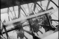 Primer del barco del vapor que viaja abajo del río almacen de video