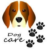 Primer del beagle del perro en fondo blanco aislado libre illustration