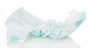 Primer del bebé de Pampers aislado en blanco Fotografía de archivo libre de regalías