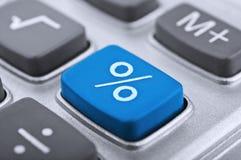 Primer del botón de la calculadora Imagen de archivo