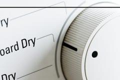 Primer del botón del secador de ropa foto de archivo